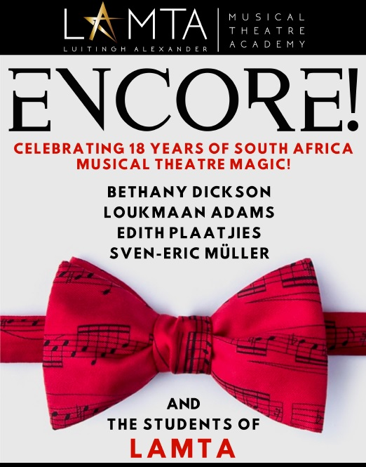 A poster for the LAMTA production of ENCORE!