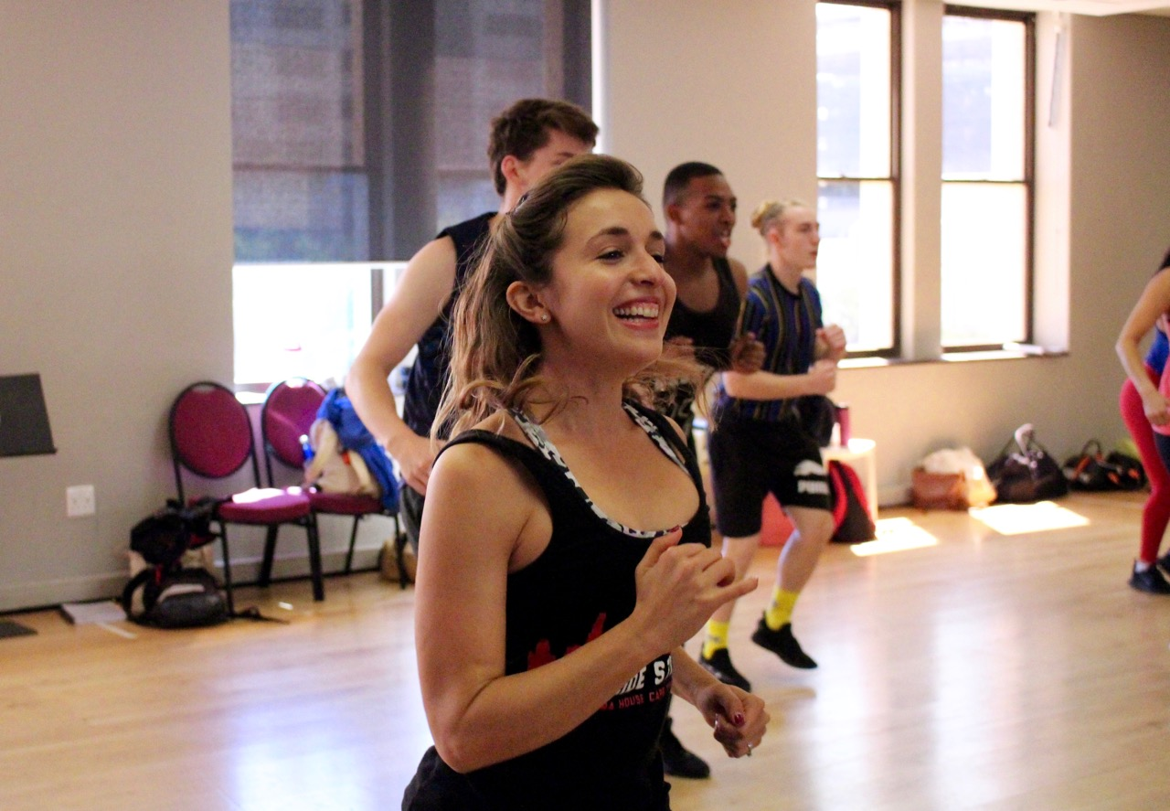 Chloe Perling rehearses for THE PRODUCERS