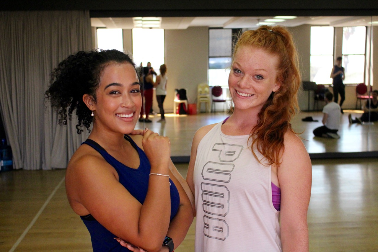 Nadine Suliaman and Claire Glover at rehearsals for THE PRODUCERS
